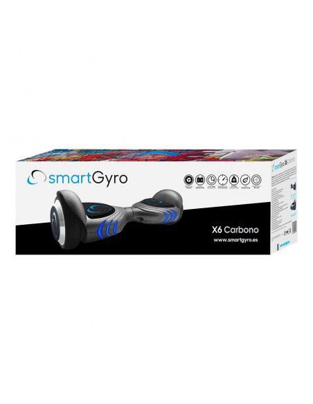 Hoverboard eléctrico smartGyro X6 Carbono