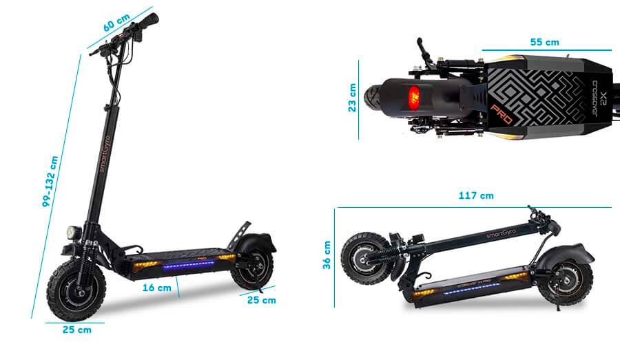 dimensiones smartgyro crossover X2 Pro